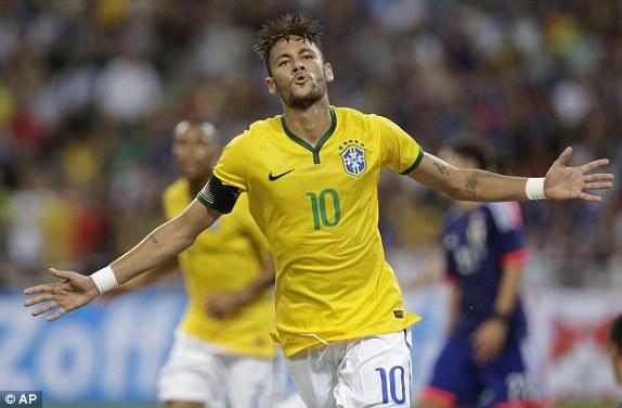 1413290202972 lc galleryImage Brazil s Neymar celebrate