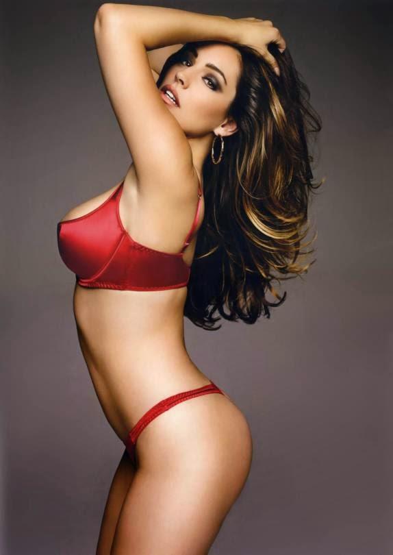 Kelly Brook  sexy red bikini