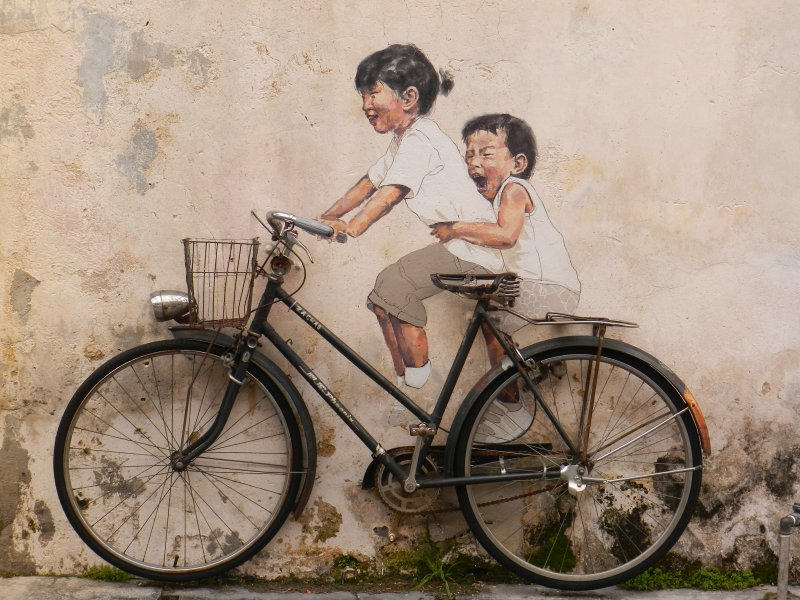 little-children-on-a-bicycle-mural