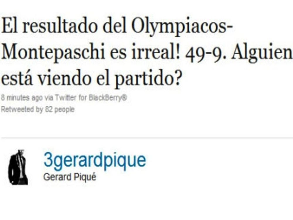 Θαυμασμός Πικέ για Ολυμπιακό!