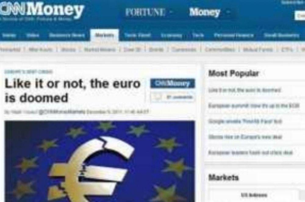 CNN: «Σας αρέσει η όχι, το ευρώ καταστρέφεται»