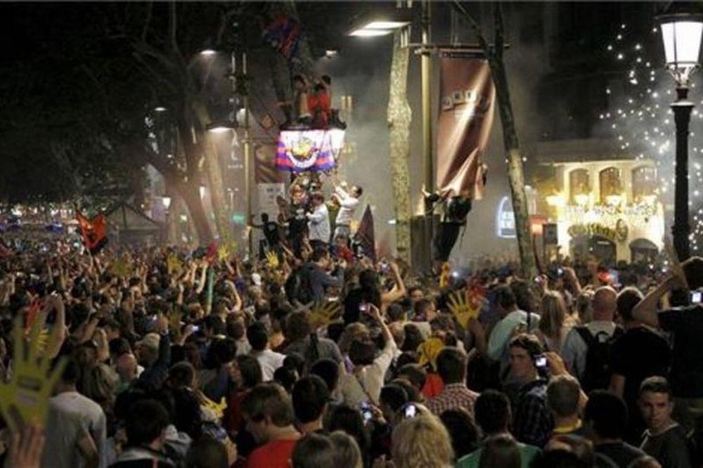 Το πάρτι ήταν στην Canaletes!