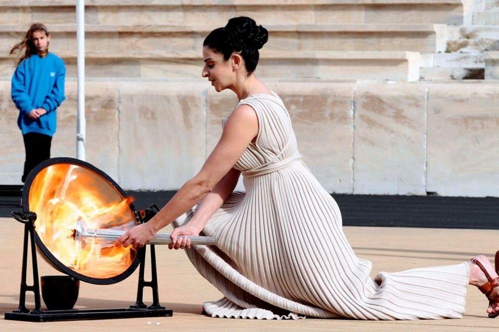 Άναψε η φλόγα στο Παναθηναϊκό Στάδιο