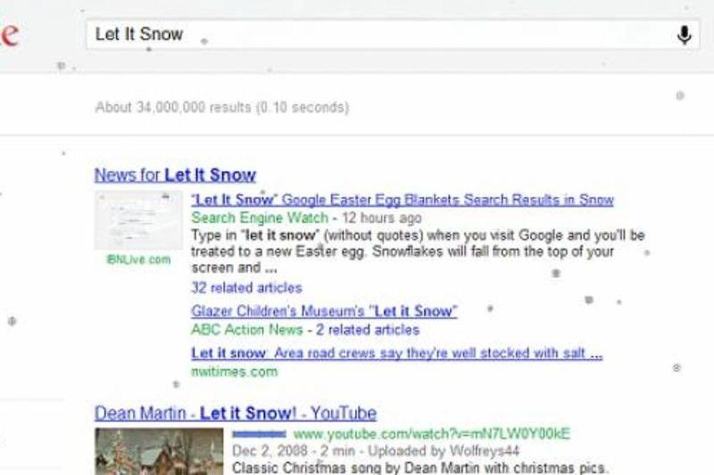 Χιονίζει στη Google!