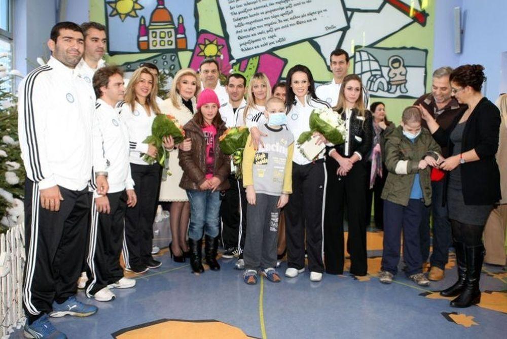 Ο Σύλλογος Ολυμπιονικών στην «Ελπίδα» (photos)