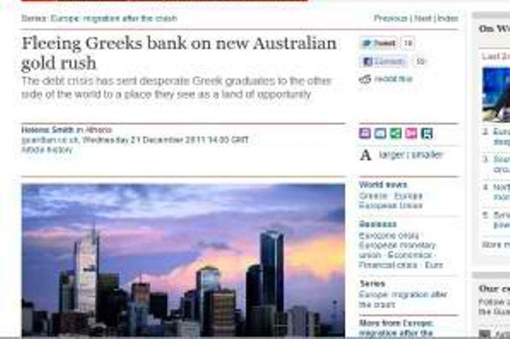 Οι Έλληνες πτυχιούχοι μεταναστεύουν μαζικά στην Αυστραλία