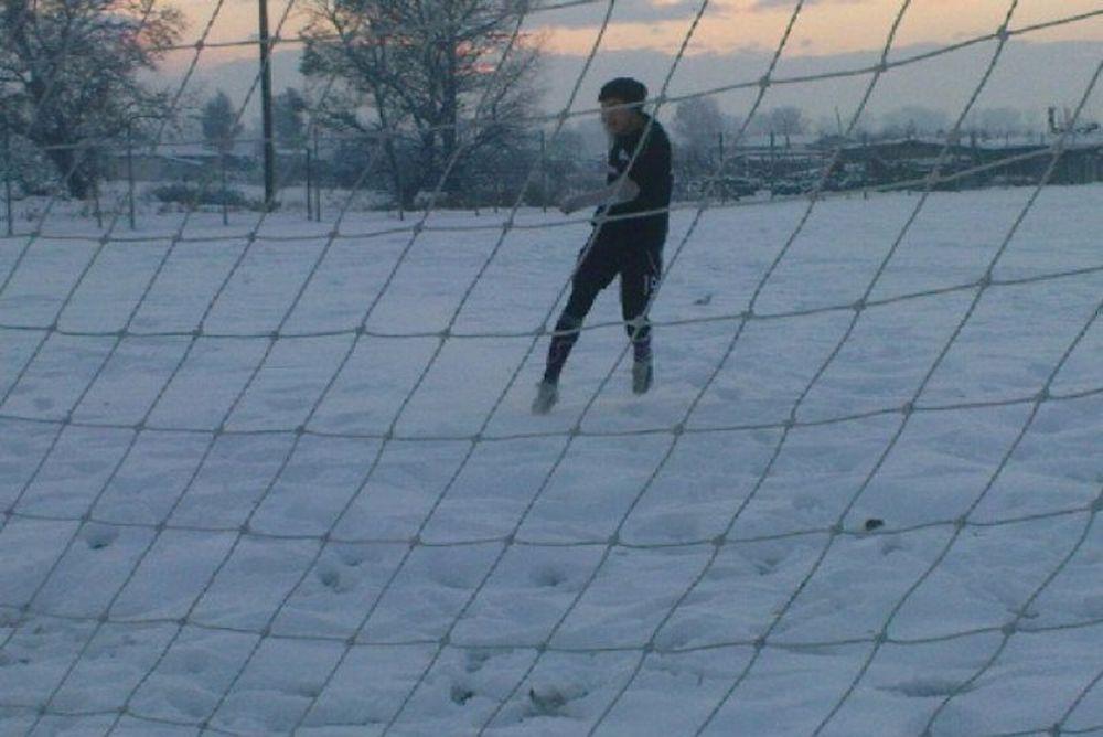 Ο χιονιάς ακύρωσε την προπόνηση του Αγροτικού Αστέρα