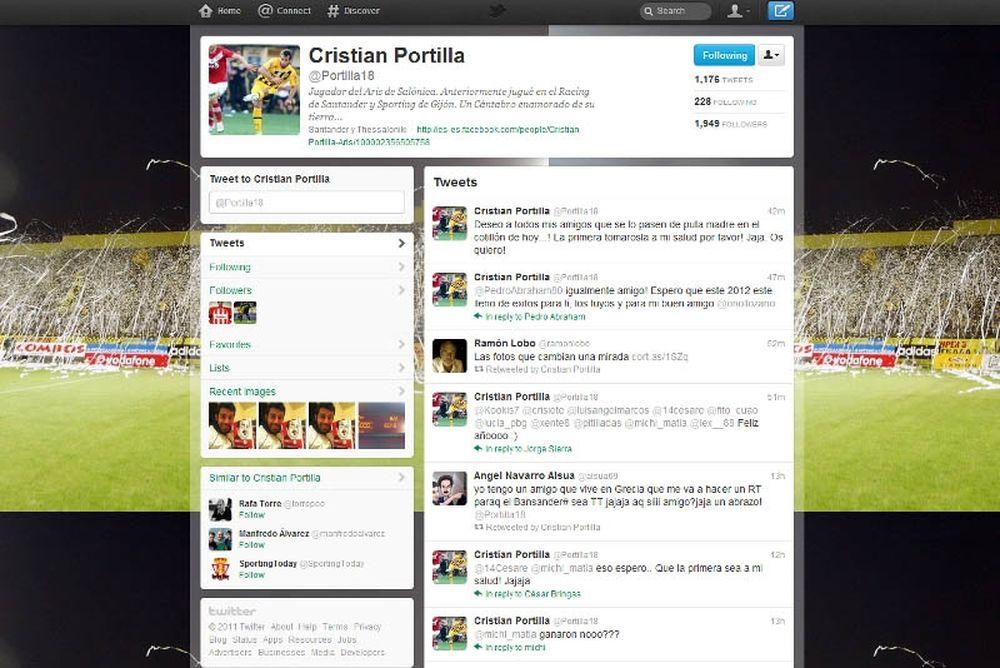 Πρωταθλητής στο twitter o Πορτίγια