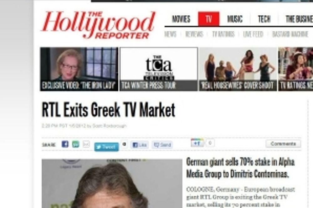 Θέμα στο Hollywood Report η αποχώρηση του RTL από τον Alpha
