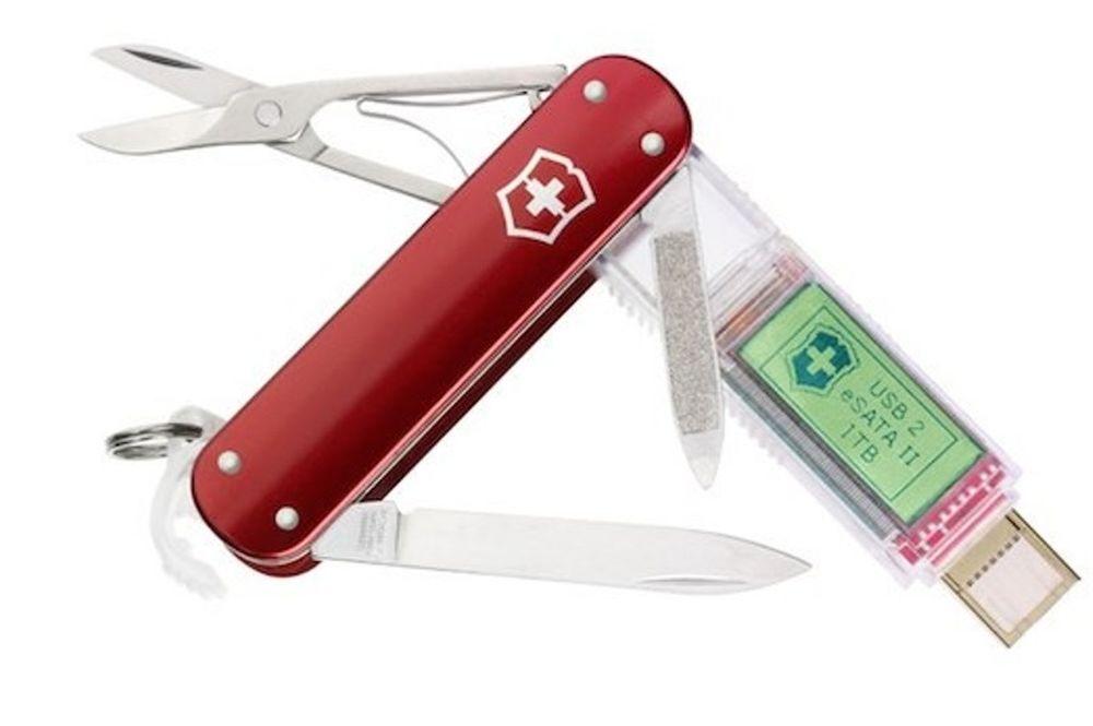 Ελβετικός σουγιάς με USB και… οθόνη