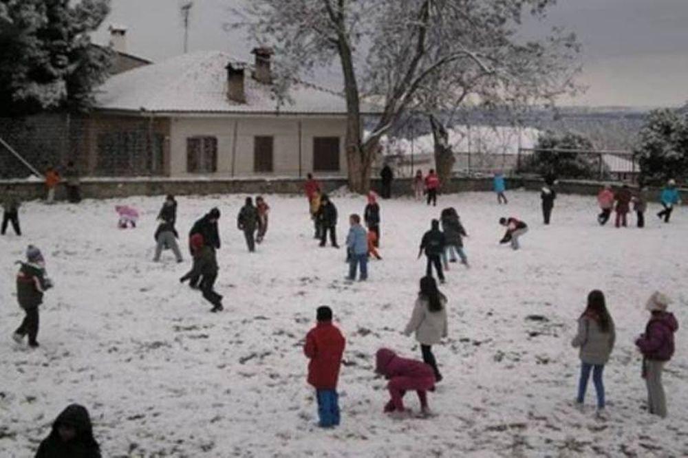 «Λουκέτο» σε σχολεία λόγω παγετού