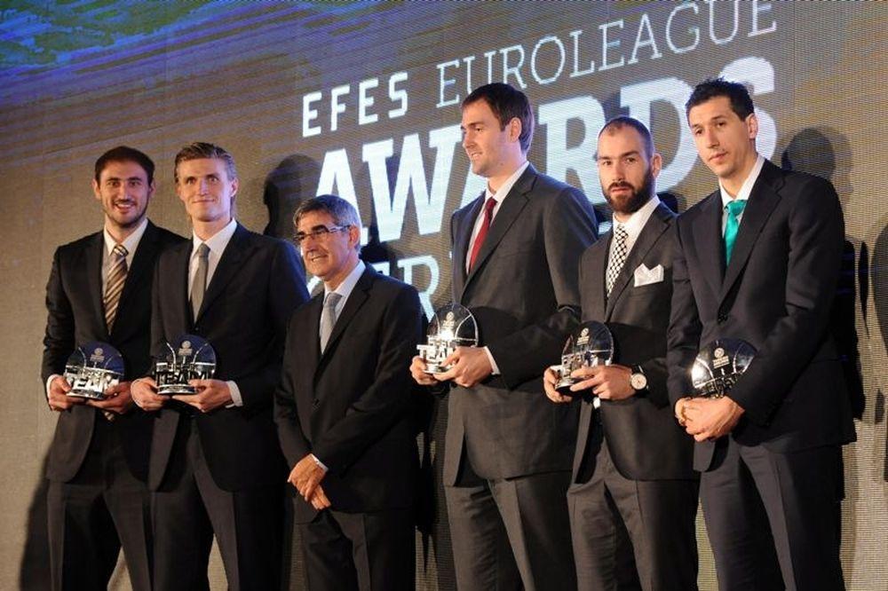 MVP ο Κιριλένκο, στην καλύτερη πεντάδα οι Διαμαντίδης, Σπανούλης (photos+video)