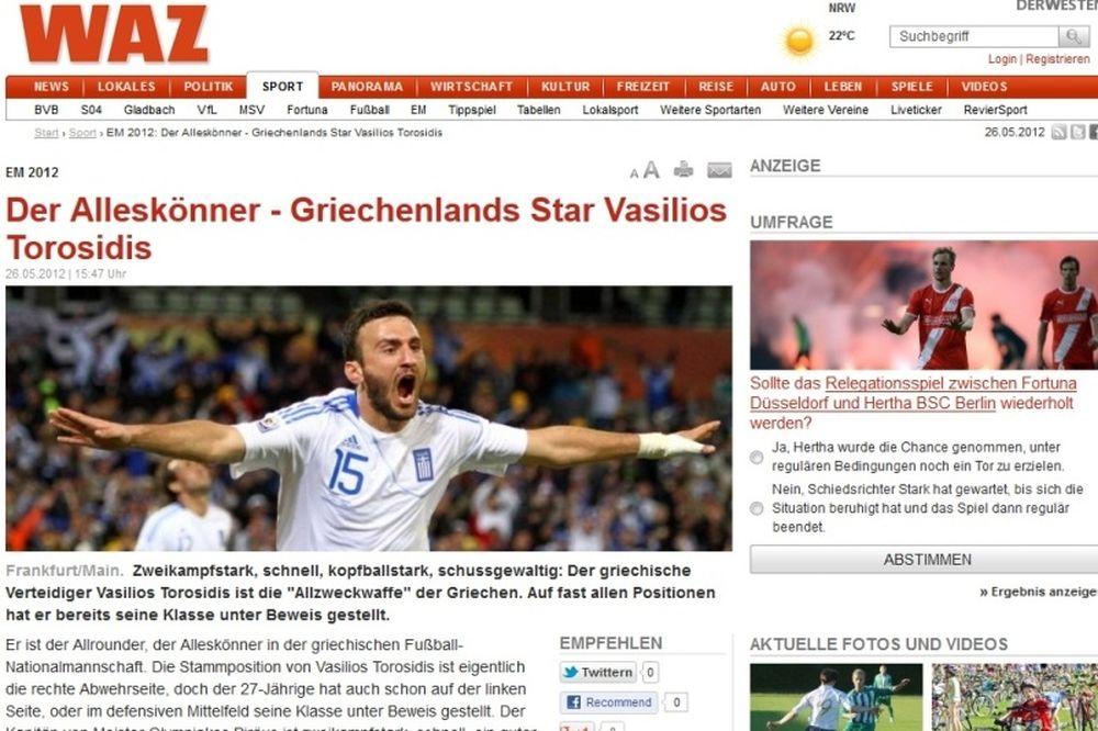Ολυμπιακός: Ύμνοι Γερμανών για Τοροσίδη