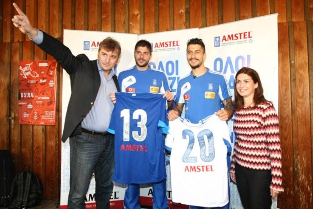 Η Amstel «έφερε» την Ελλάδα στις... πλάτες της Εθνικής (photos)
