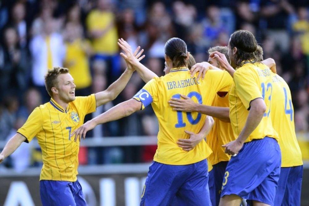 Euro 2012: Πρώτο δείγμα θετικό για Σουηδία (photos+video)