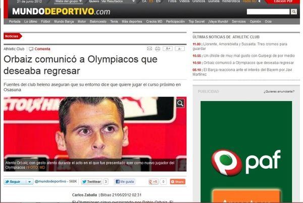 «Σε επικοινωνία ο Ολυμπιακός με τον Ορμπάιθ»