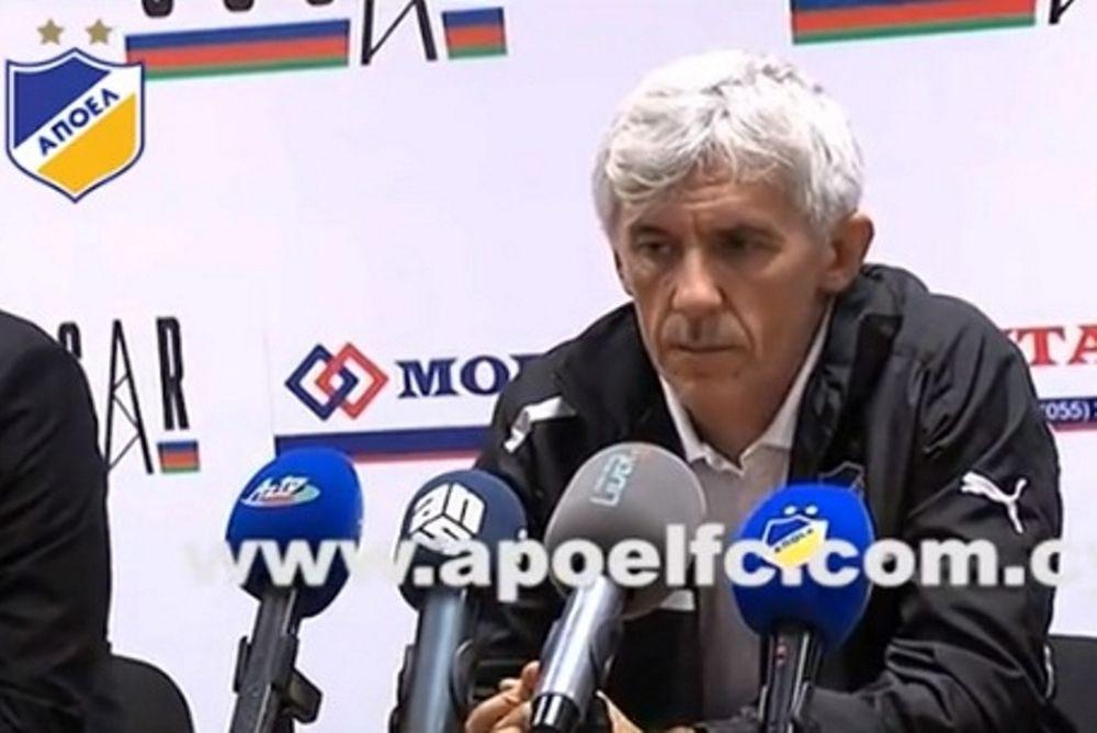 Γιοβάνοβιτς: «Ο ΑΠΟΕΛ δεν έπαιξε καλά»