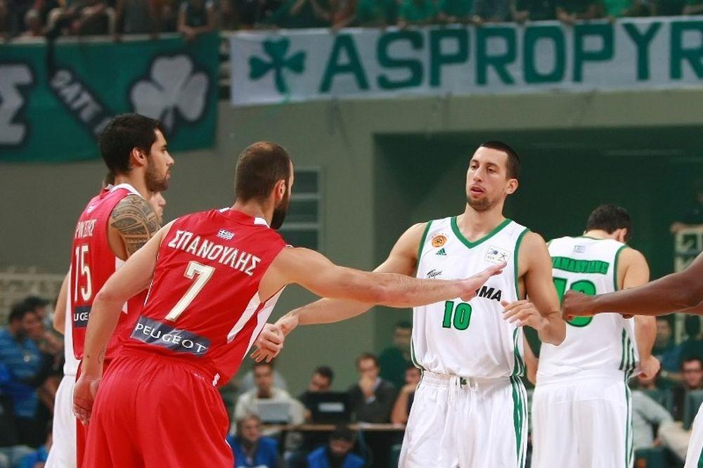 Παναθηναϊκός-Ολυμπιακός: Ούκιτς και Σπανούλης... on fire! (photos)