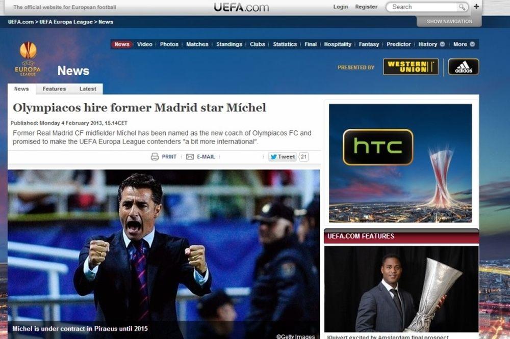 Ολυμπιακός: Θέμα για Μίτσελ η UEFA