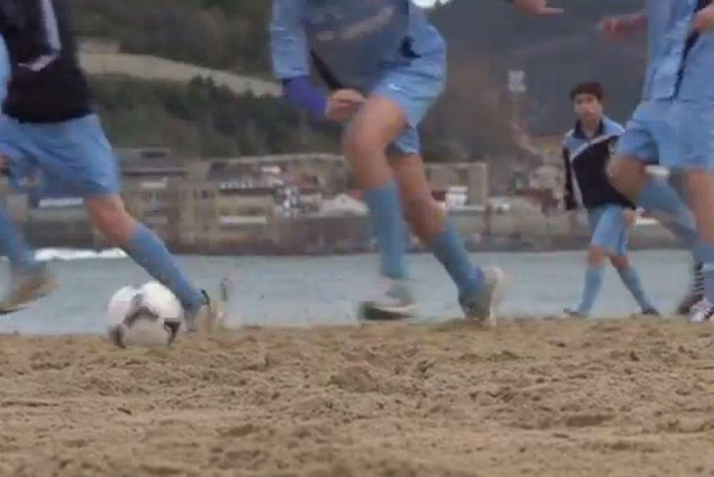 Στην παραλία που έμαθαν ποδόσφαιρο Αλόνσο και Αρτέτα! (video)