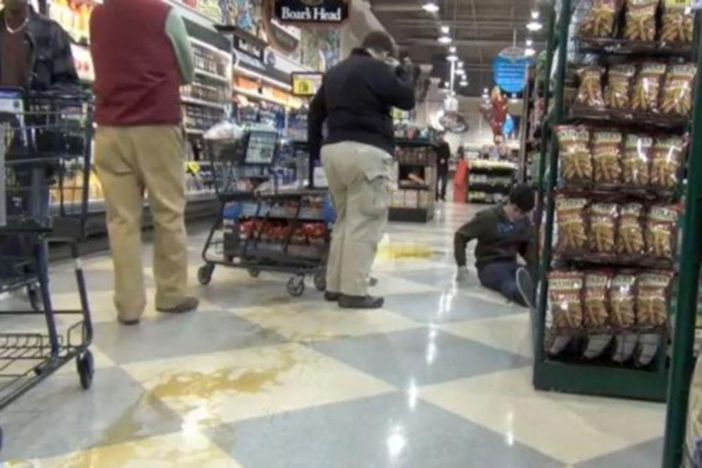 Δείτε τι μπορεί να πάθετε σε ένα σούπερ μάρκετ (Video)