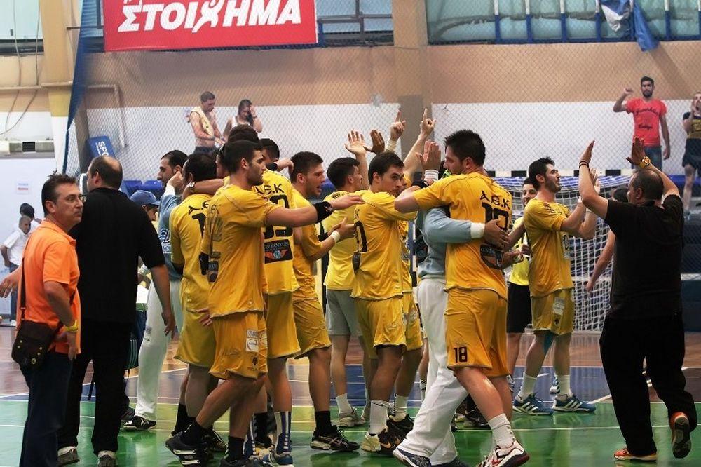 Χάντμπολ Έκανε τα 1-1 η ΑΕΚ, 24-19 τον Διομήδη