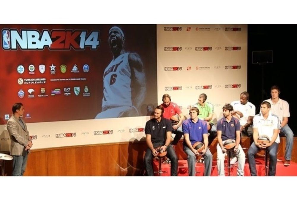 Ευρωλίγκα: Παρουσίασαν το NBA2K14, Διαμαντίδης και Σπανούλης