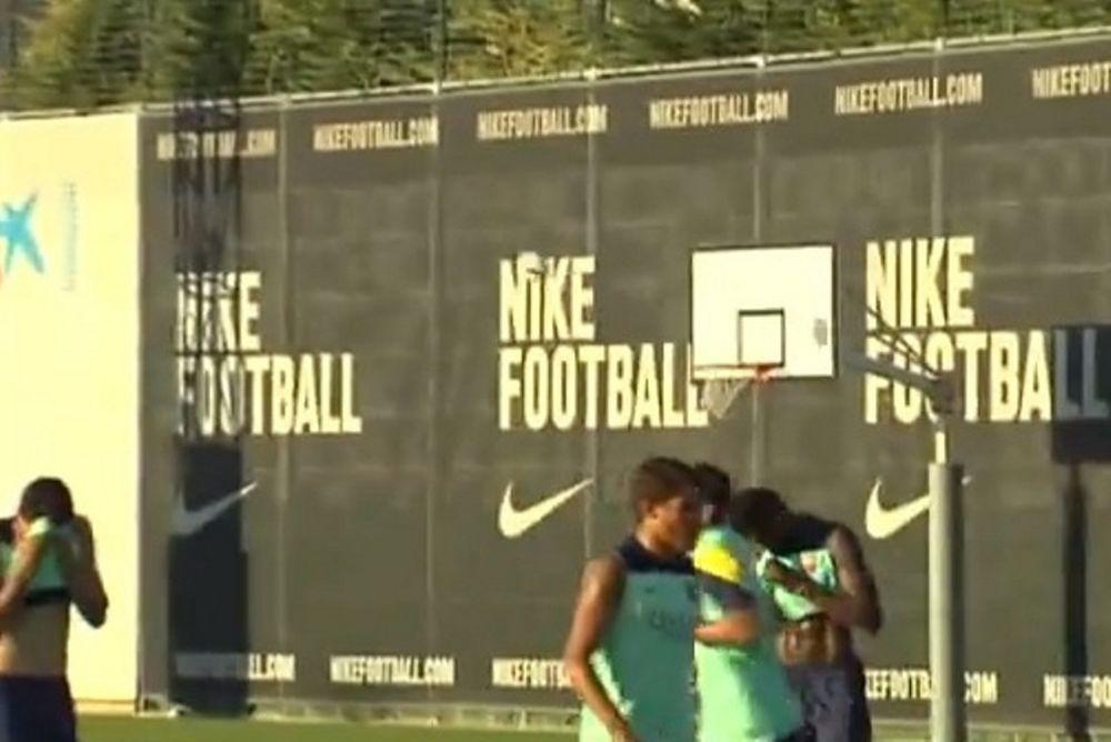 Μπαρτσελόνα: Έπαιξαν… ποδο-μπάσκετ! (video)
