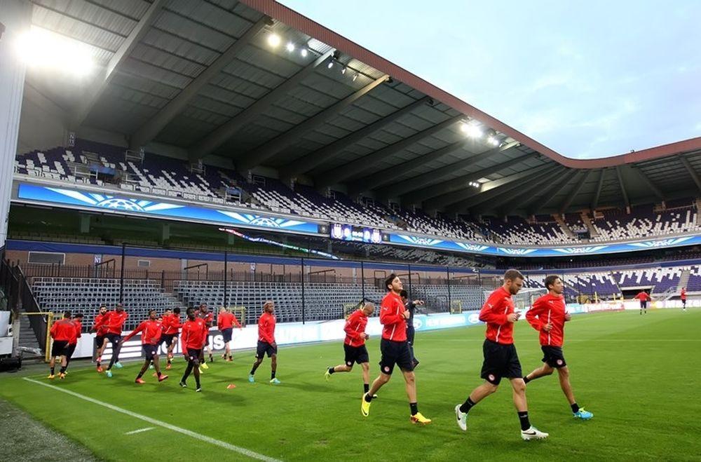 Ολυμπιακός: Η προπόνηση στο Βάντεν Στοκ (photos)