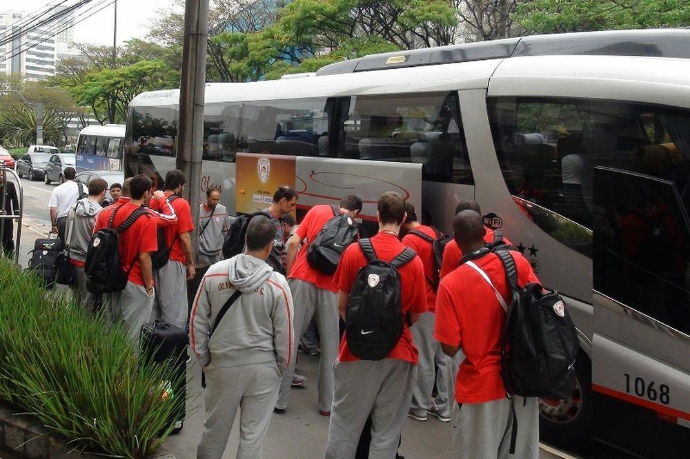 Ολυμπιακός: Το ταξίδι στο Σάο Πάολο (video+photos)