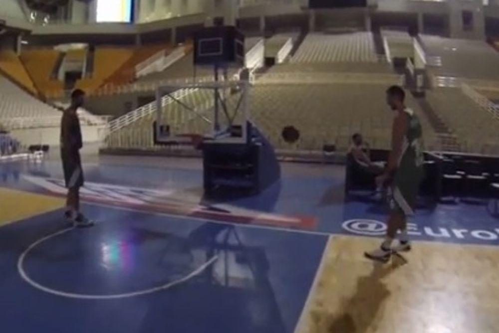 Παναθηναϊκός: Το… ποδο-μπάσκετ Βλάντο και Γάιου! (video)