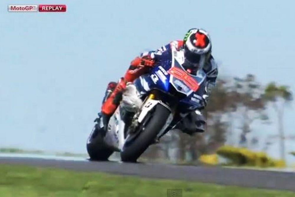 Moto GP: Ενας γλάρος στη ρόδα του Λορένθο! (video)