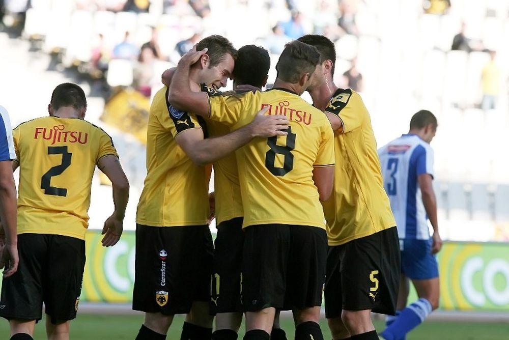 Σε ρυθμούς προπόνησης η ΑΕΚ, 3-0 τον Άγιο Νικόλαο (photos+video)