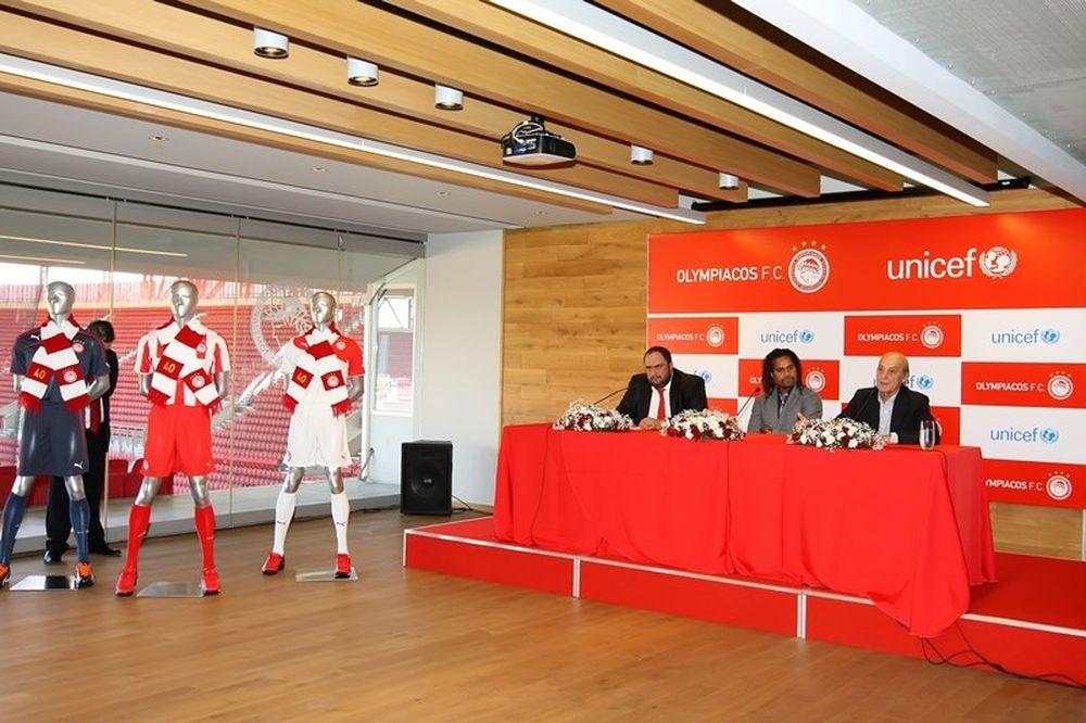 Ολυμπιακός: Επίσημη η συνεργασία με τη Unicef (video)