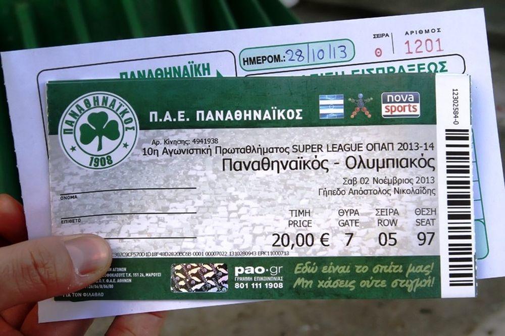 Παναθηναϊκός: Παρέλαση στη Λεωφόρο για τα εισιτήρια (photos)