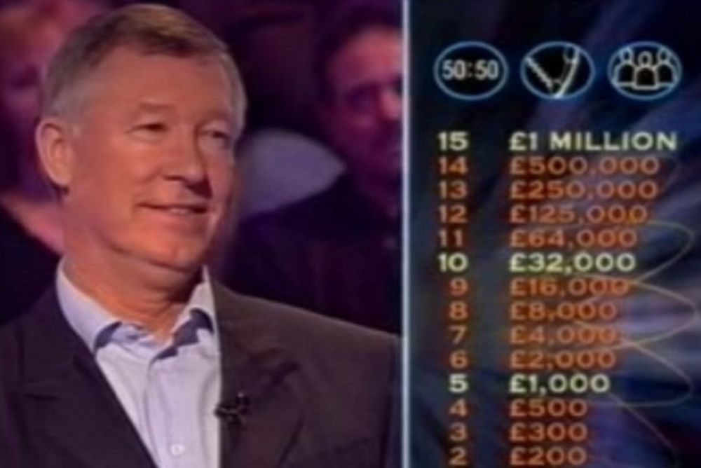 Σερ Άλεξ Φέργκιουσον: Στο «ποιος θέλει να γίνει εκατομμυριούχος;» (photos+video)