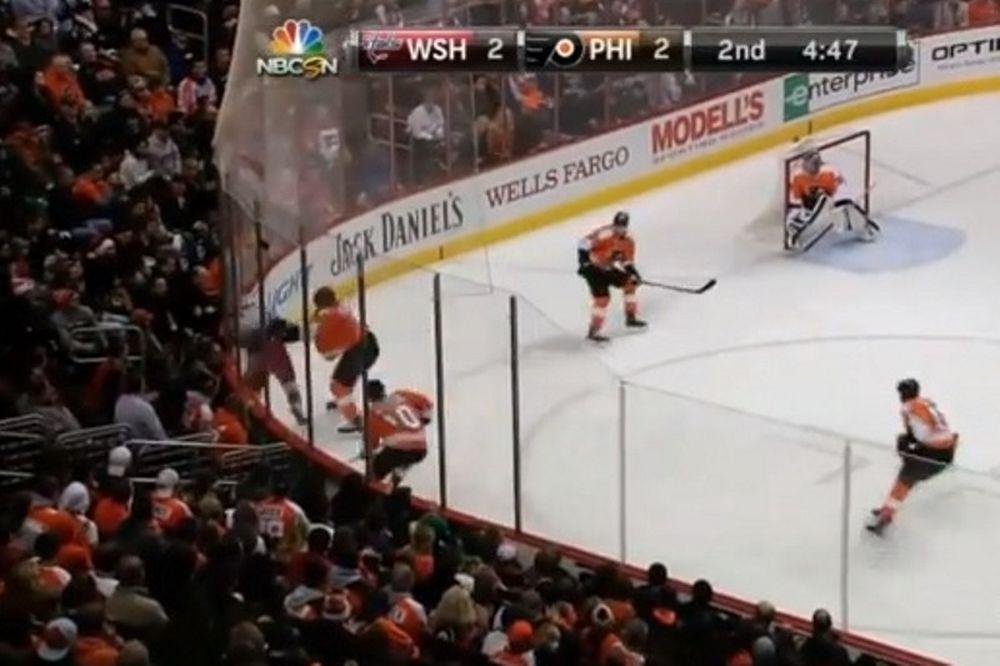 NHL: Παίκτες πλακώθηκαν στο Κάπιταλς – Φλάιερς (video)