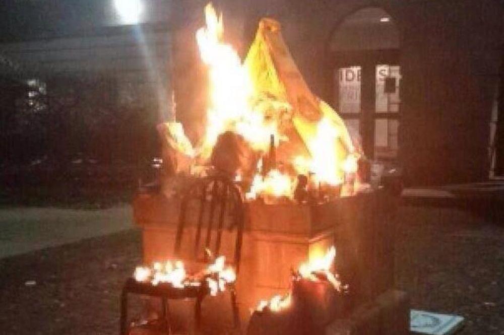 ΗΠΑ: Έκαψαν τη μασκότ του Maryland! (photos)