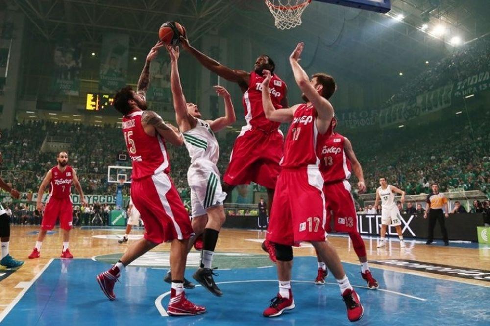 Παναθηναϊκός - Ολυμπιακός: Χαμός στη ρακέτα! (photos)