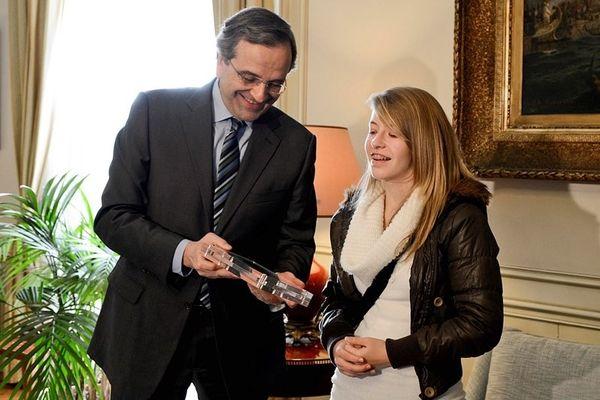 Σκάκι: Ο Σαμαράς βράβευσε την 14χρονη παγκόσμια πρωταθλήτρια, Τσολακίδου (photos)
