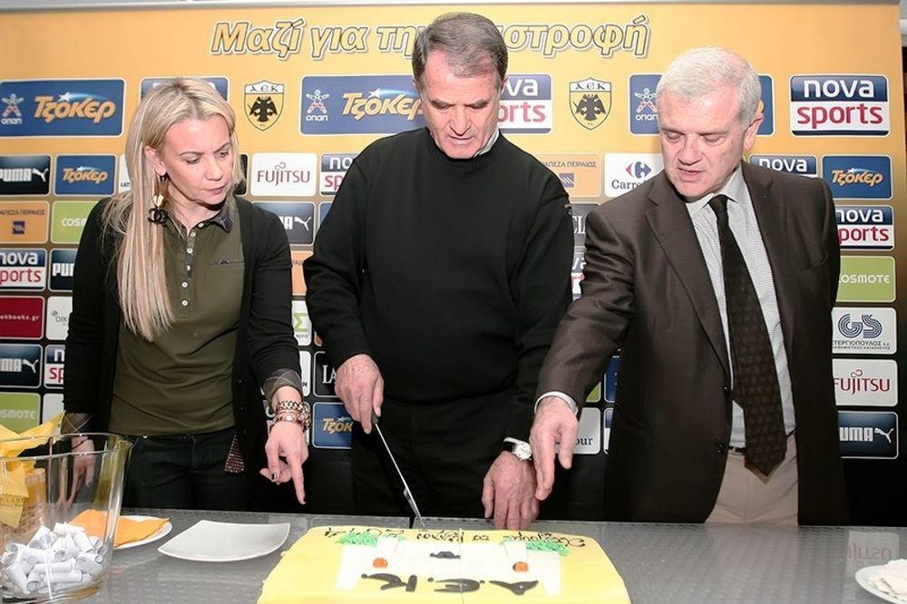 ΑΕΚ: Έκοψε την πίτα, νικητής ο Μπρέσεβιτς (photos)