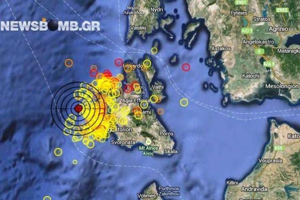 Σεισμός 4,1 Ρίχτερ στην δυτικά της Κεφαλονιάς