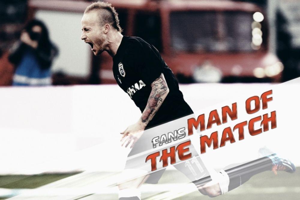 ΠΑΟΚ: Fans Man of the Match ο Στοχ