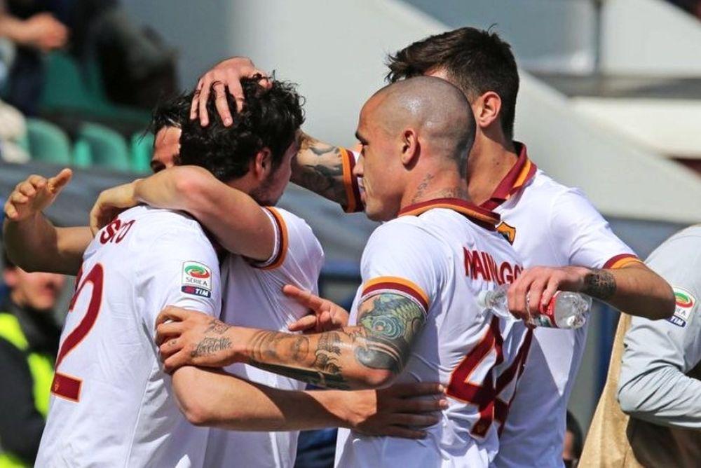 «Χτύπησε» νωρίς η Ρόμα, 2-0 τη Σασουόλο (videos)