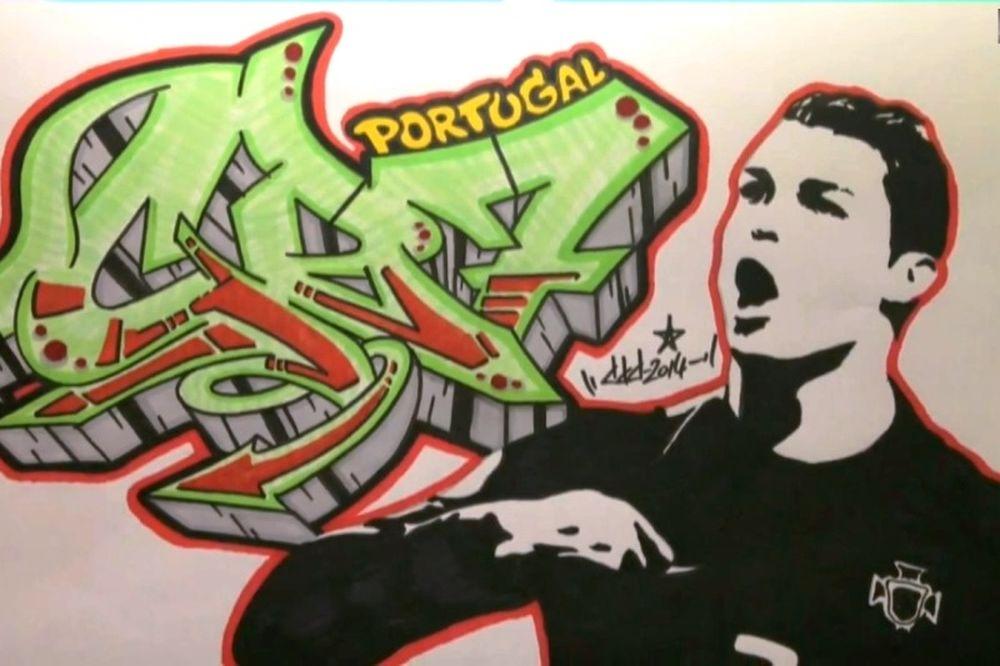 Πορτογαλία: Το graffiti του Ρονάλντο (video)