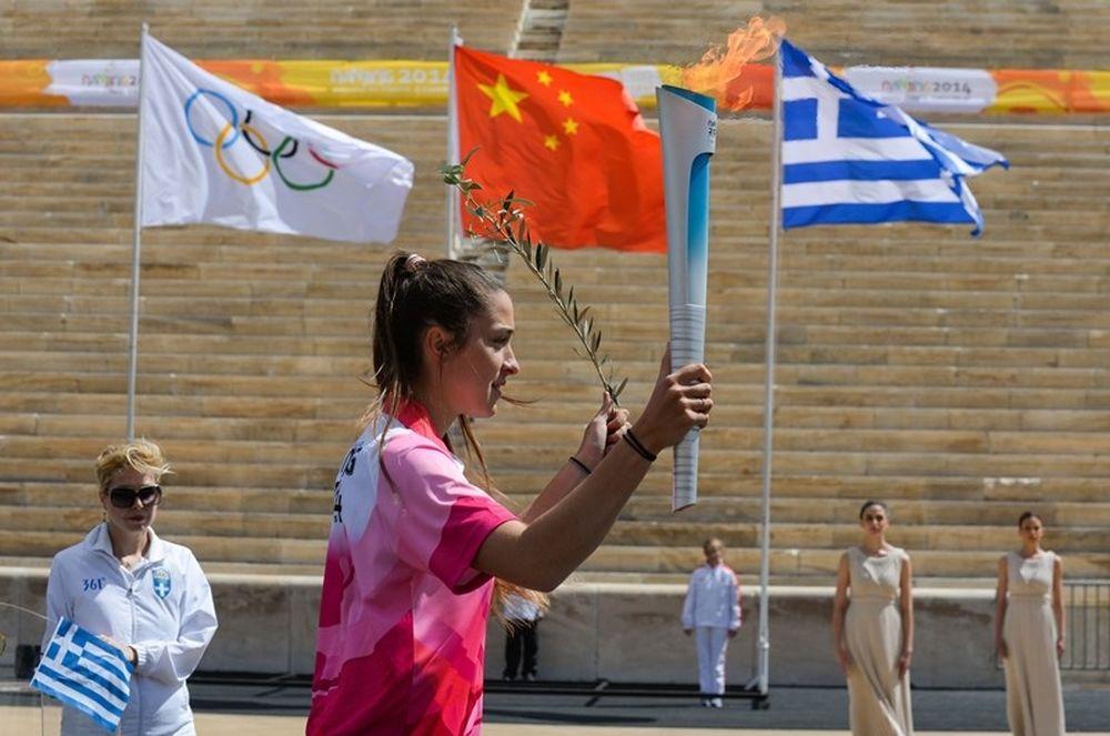 Ολυμπιακοί Νέων Κίνας: Η Αφή Φλόγας στο Παναθηναϊκό Στάδιο (photos)