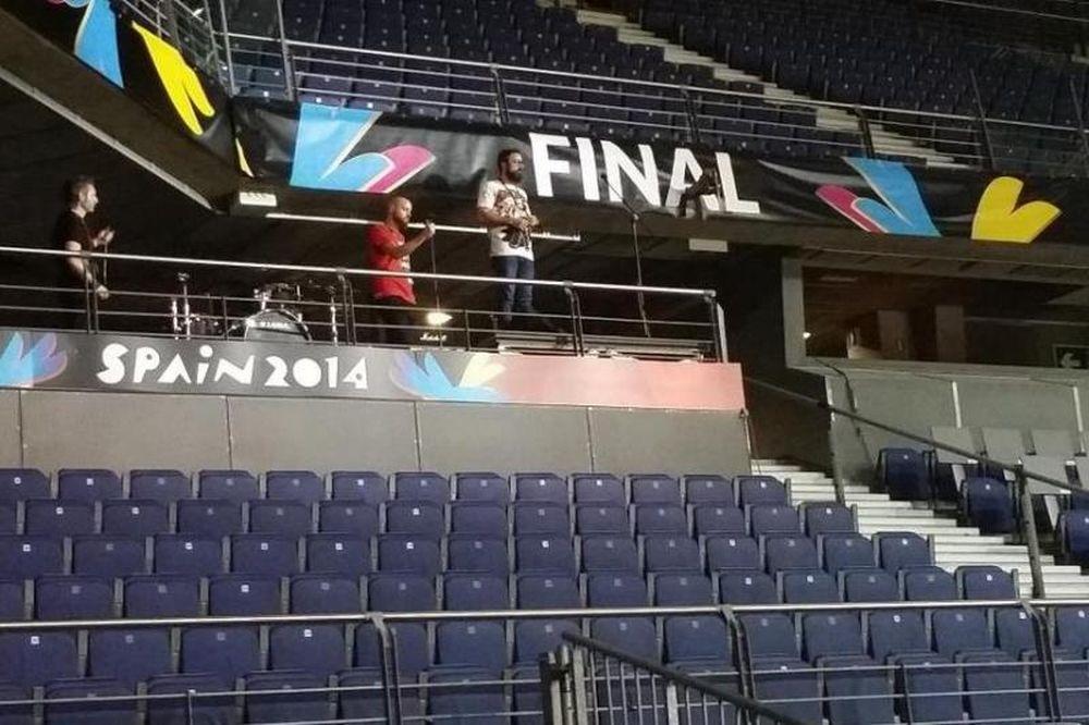 Παγκόσμιο Κύπελλο Μπάσκετ 2014: Οι ετοιμασίες του τελικού (photos)