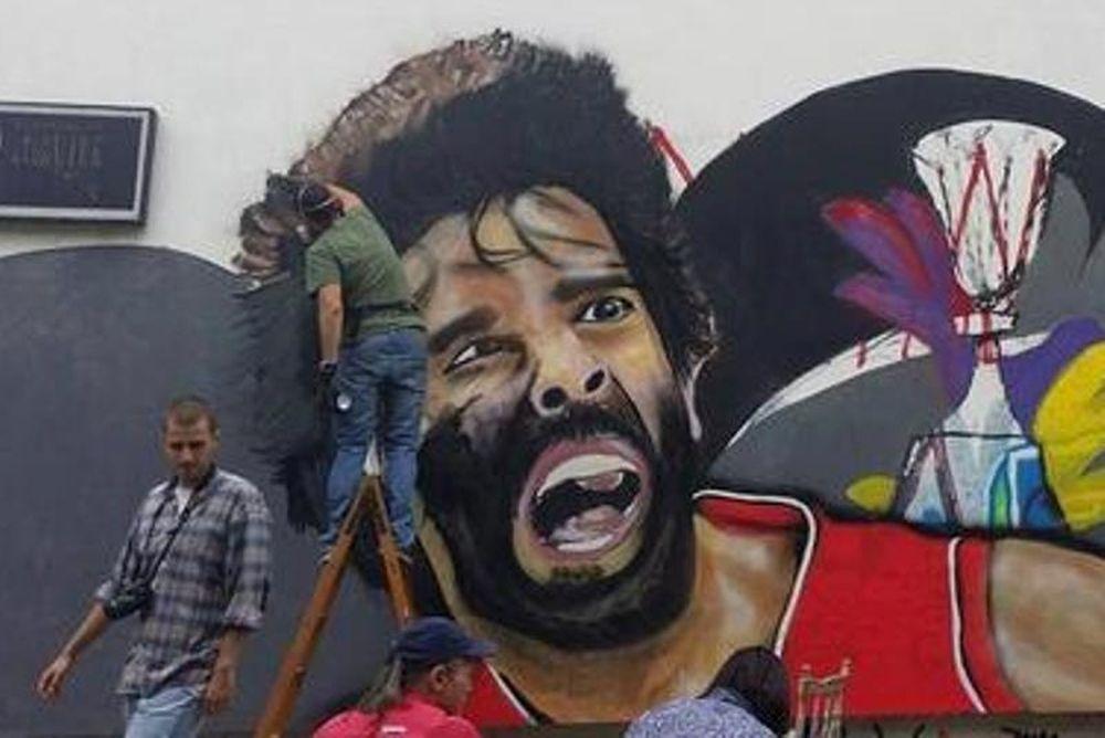 Μουντομπάσκετ 2014: Γκράφιτι Τεόντοσιτς και Τζόρτζεβιτς στο Βελιγράδι! (photo)