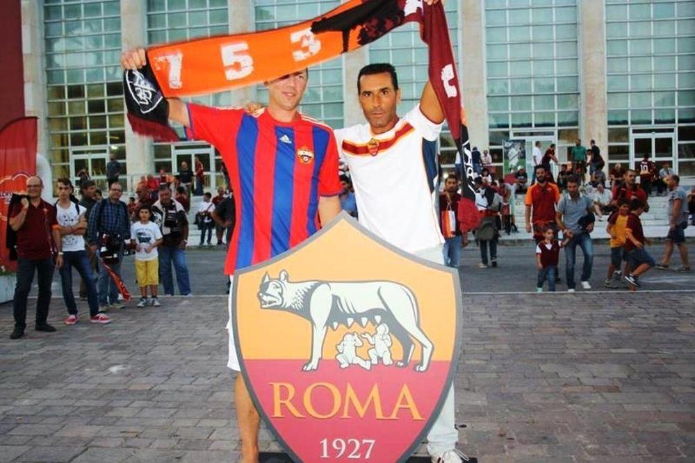 Ρόμα – ΤΣΣΚΑ Μόσχας: Η καλή πλευρά των οπαδών (photos)