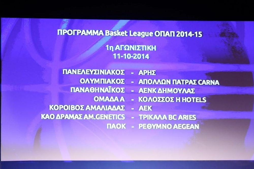 Basket League ΟΠΑΠ: Το πλήρες πρόγραμμα του πρωταθλήματος